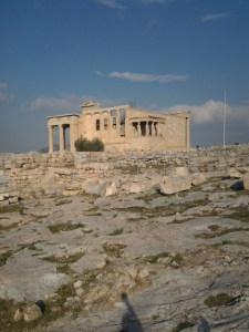The back of the Parthenon has less visible construction equipment