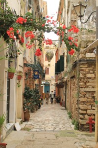 A side street in Corfu's historic Old Town